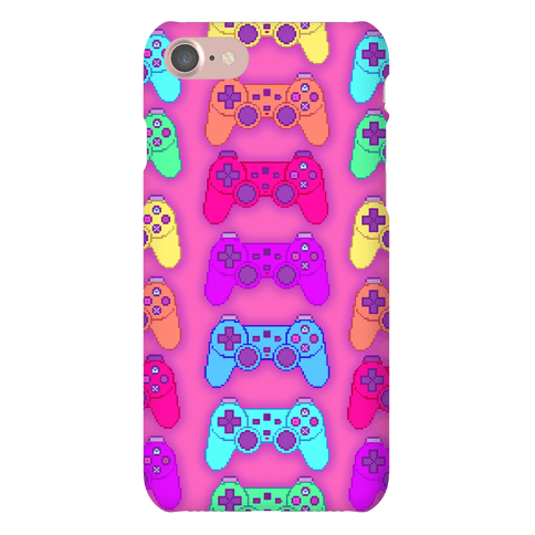 Rainbow Pixel Game Controller Phone Case