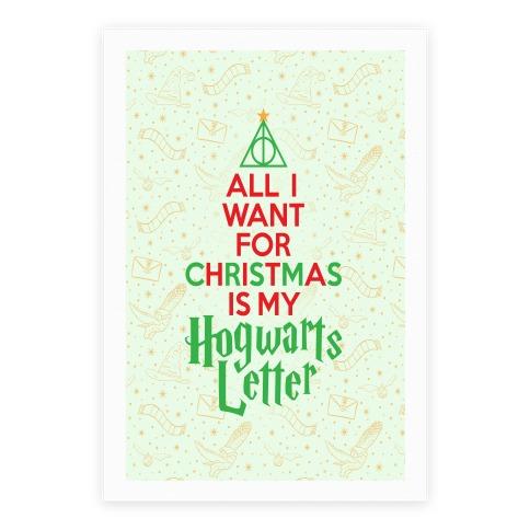 Christmas Hogwarts Letter Poster