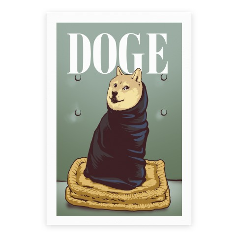 Doge (Vogue Parody Print) Poster