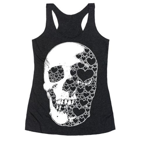Heart Skull Racerback Tank Top