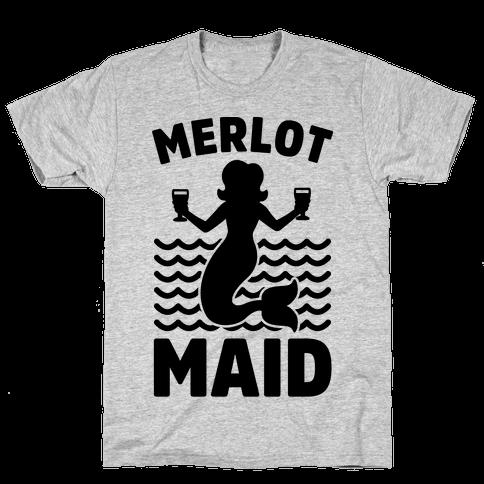 Merlot Maid Mens T-Shirt