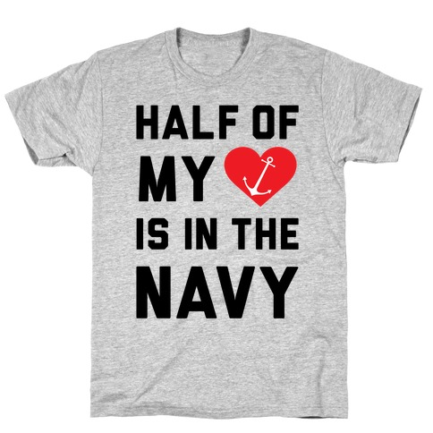 Half My Heart Is In The Navy T-Shirt