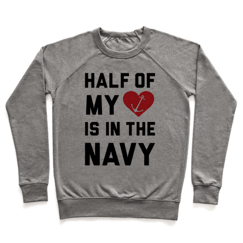 Half My Heart Is In The Navy Pullover