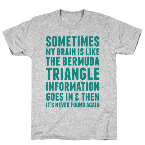 Sometimes My Brain Is Like The Bermuda Triangle Mens T-Shirt