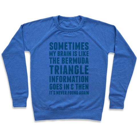 Sometimes My Brain Is Like The Bermuda Triangle Pullover