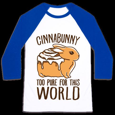 Cinnabunny Too Pure For This World Baseball Tee