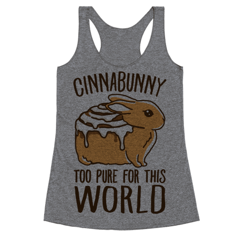 Cinnabunny Too Pure For This World Racerback Tank Top