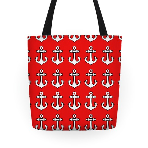 Red Anchor Pattern Tote