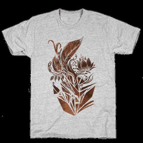 Leaves in Geometry Mens T-Shirt