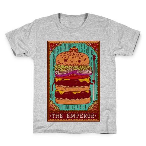 Burger Emperor Tarot Card Kids T-Shirt