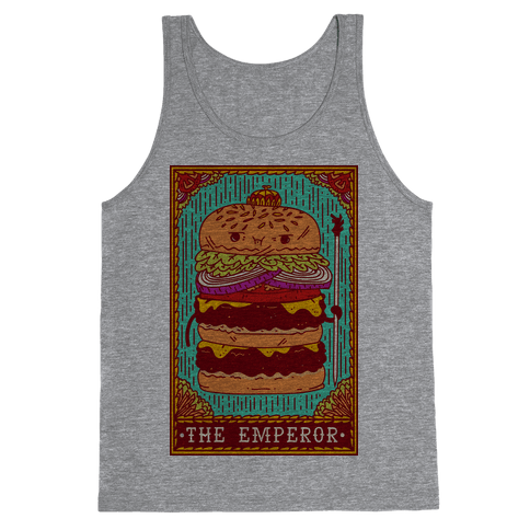 Burger Emperor Tarot Card Tank Top