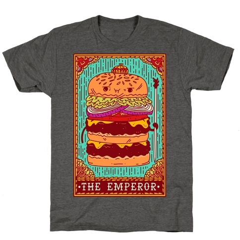 Burger Emperor Tarot Card T-Shirt