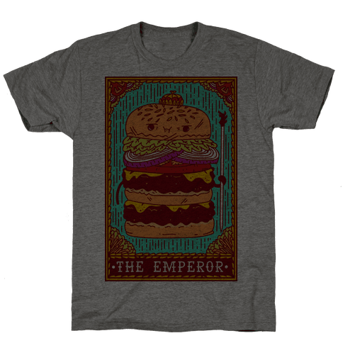 Burger Emperor Tarot Card Mens T-Shirt