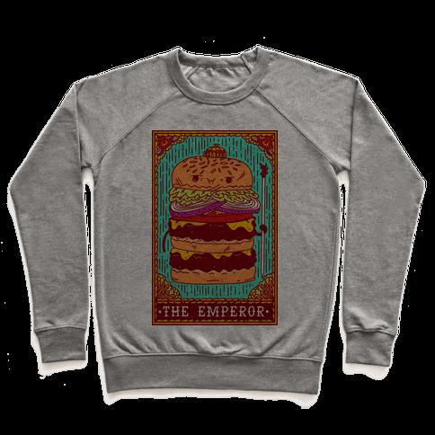 Burger Emperor Tarot Card Pullover