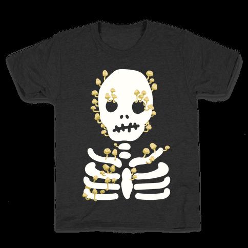 Mushroom Skeleton Kids T-Shirt