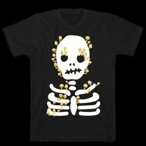 Mushroom Skeleton Mens T-Shirt