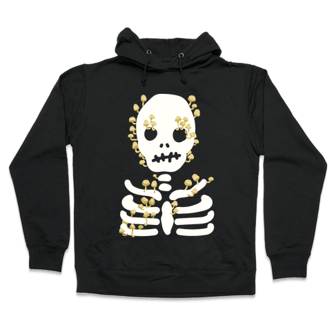 Mushroom Skeleton Hooded Sweatshirt