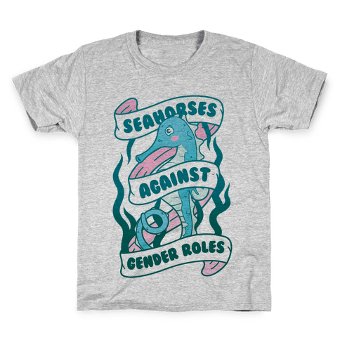 Seahorses Against Gender Roles Kids T-Shirt