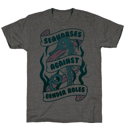 Seahorses Against Gender Roles Mens T-Shirt
