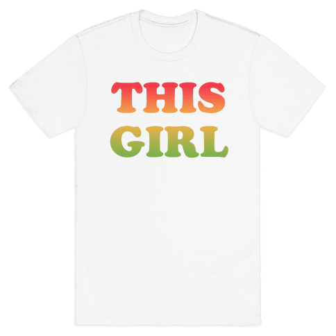 This Girl Loves Her Girl Friend Mens T-Shirt