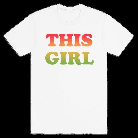 This Girl Loves Her Girl Friend Mens T-Shirt