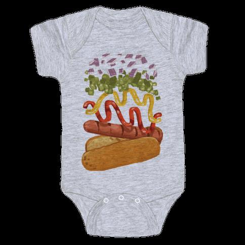 Anatomy Of A Hot Dog Baby Onesy