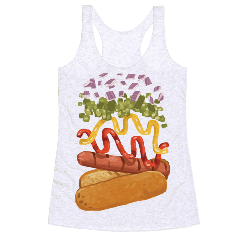 Anatomy Of A Hot Dog Racerback Tank Top