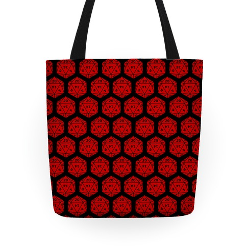 D20 Tote (Red Dice) Tote