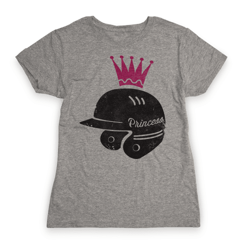 Softball Princess Womens T-Shirt