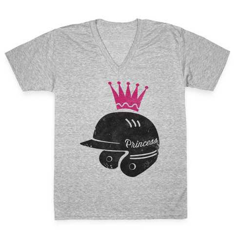 Softball Princess V-Neck Tee Shirt