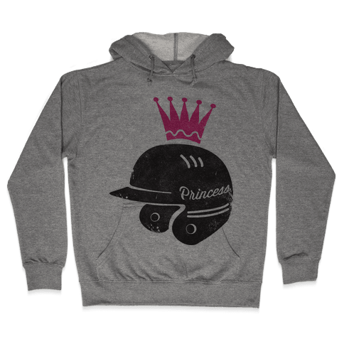 Softball Princess Hooded Sweatshirt