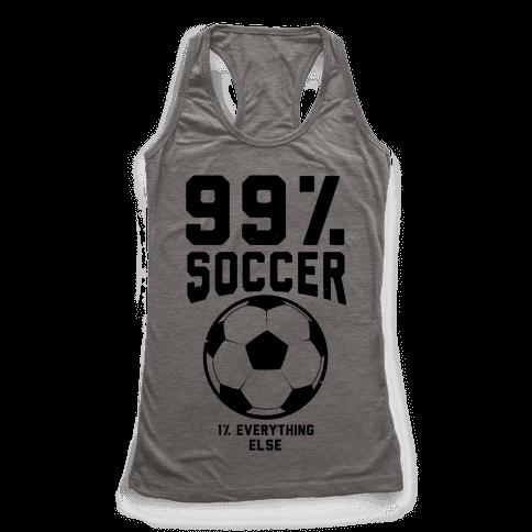 99 percent soccer racerback tank tops human for Z table 99 percent