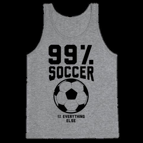 99 Percent Soccer Tank Top