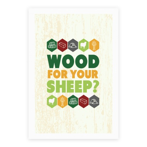 Wood For Your Sheep? Poster