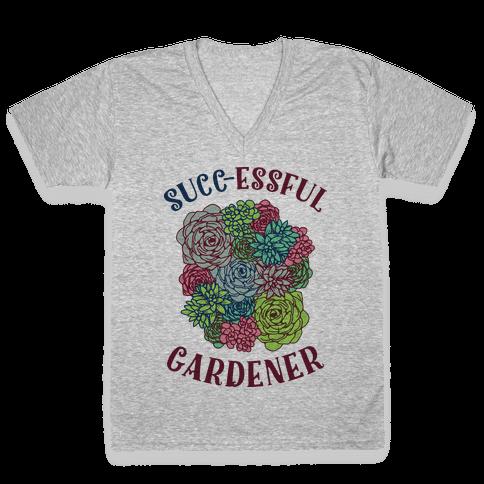 Succ-essful Gardener V-Neck Tee Shirt