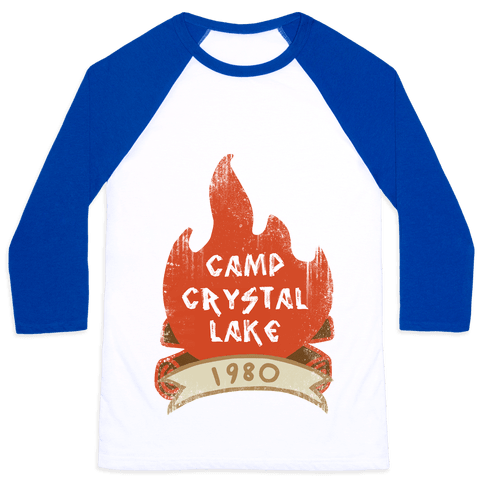 Crystal Lake Summer Camp Baseball Tee
