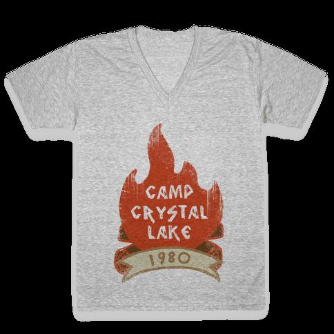 Crystal Lake Summer Camp V-Neck Tee Shirt