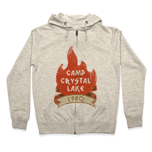 Crystal Lake Summer Camp Zip Hoodie