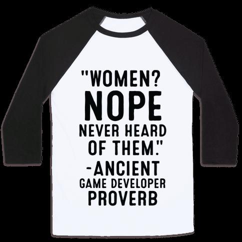 Game Developer Proverb Baseball Tee