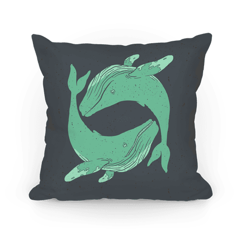 The Circle of Whales Pillow