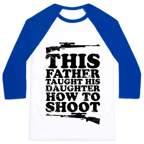 This Father Taught His Daughter How to Shoot Baseball Tee