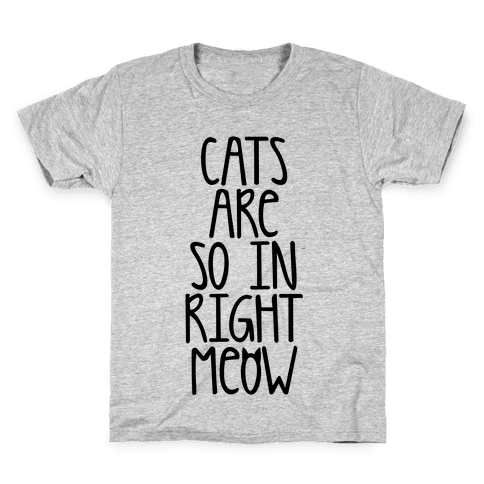 Cats Are So In Right Meow Kids T-Shirt