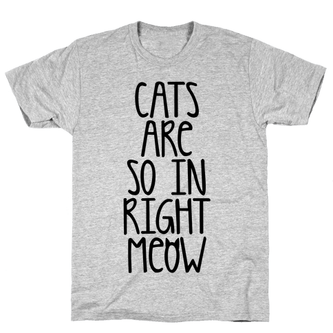 Cats Are So In Right Meow Mens T-Shirt
