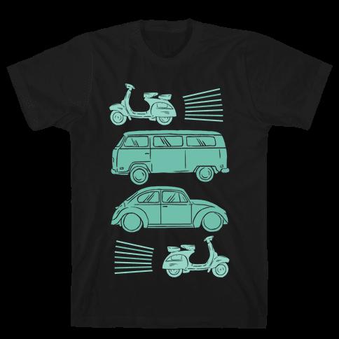 The 1960's Hippie Traveler Mens T-Shirt