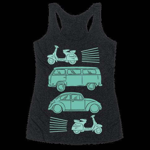 The 1960's Hippie Traveler Racerback Tank Top