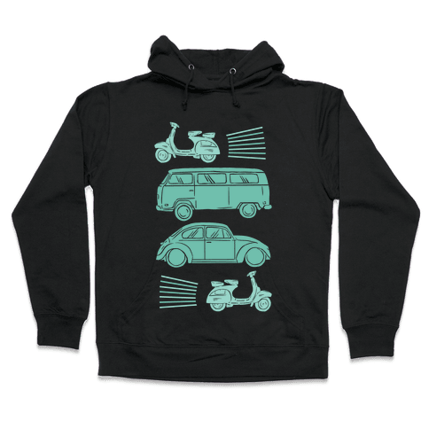 The 1960's Hippie Traveler Hooded Sweatshirt
