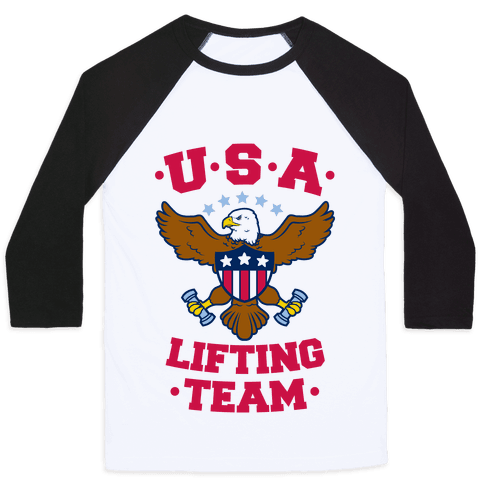U.S.A. Lifting Team Baseball Tee