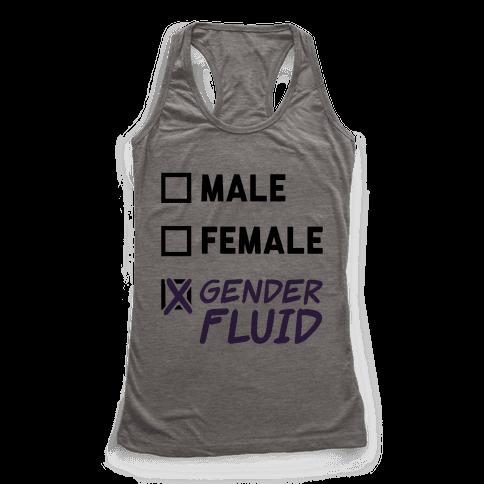 Gender Fluid Checklist Racerback Tank Top