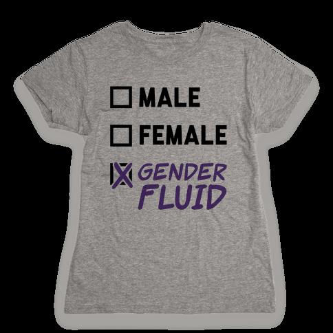 Gender Fluid Checklist Womens T-Shirt