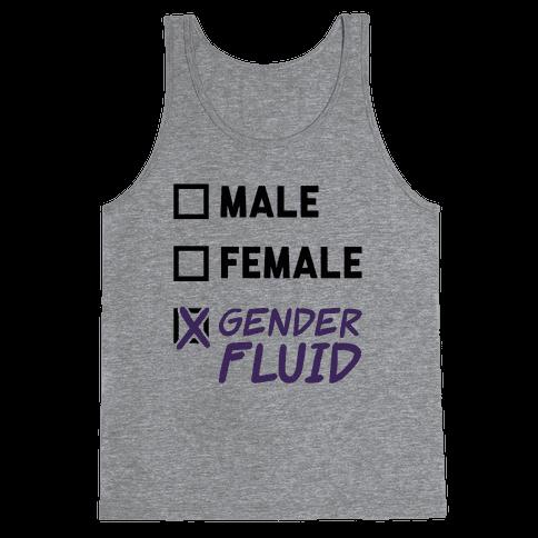 Gender Fluid Checklist Tank Top